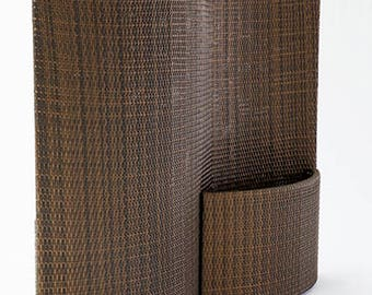 Divider and planter  S type/ brown wicker