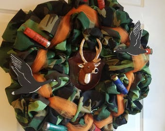 Camo Deer Hunting wreath