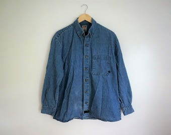 Denim Button-down shirt