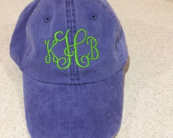 ADAMS Embroidered Personalized Monogrammed Hat