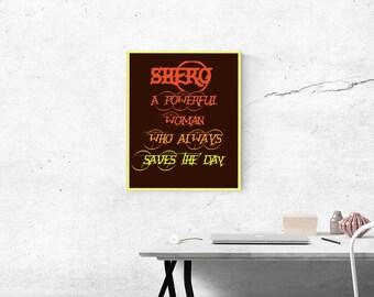 Shero Digital Art Print 8x10