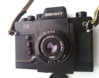 Zenit 19 ussr rangefinder Industar 50-2 camera 35mm SLR