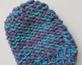 Purple & Blue Mitten Washcloth