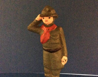 Vintage Iron Casted Women Toy Soldier