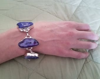 Sterling Silver and Purple Crystal agate