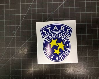 Resident Evil STARS Racoon City Police Department Decal Bumper Sticker
