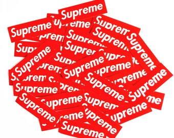 "6"" x 2"" Supreme Original Classic Logo Vinyl Decal Stickers Laptop Phone Luggage Car"