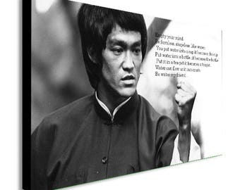 Bruce Lee Empty Your Mind Canvas Wall Art Print - Various Sizes