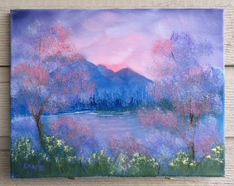 Hazy Spring Morning - Oil painting on canvas