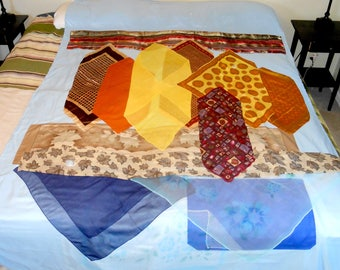 Autumn Lake twin-size lightweight quilt top