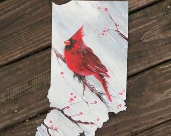 Indiana Winter Cardinal