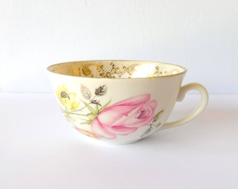 Cup vintage, flowers, dishes flowery, Cup dishes wedding, invited, gift gourmet gift
