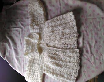 Crocheted matinee jacket 9-12 months