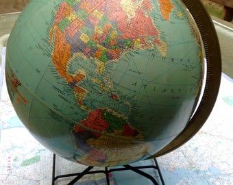 "Vintage Replogle 12"" Classroom Globe"