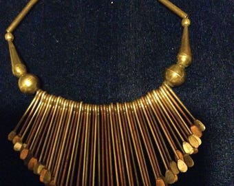 Vintage Egyptian Revival Bib Necklace