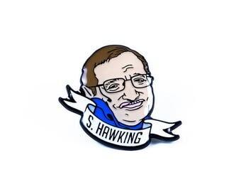 Stephen Hawking Enamel Pin - Science Heroes Series