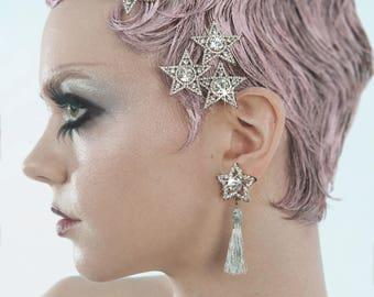 OVERADORNED Swarovski Star earrings