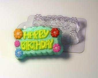 Happy Birthday a plastic soap mold