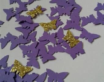 Butterflies confetti, butterfly party, butterfly garden, party decor, paper confetti, purple butterflies, purple confetti, birthday girl.