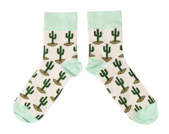 Cactus Ankle Socks