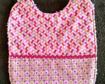 Lined towel fabric bibs