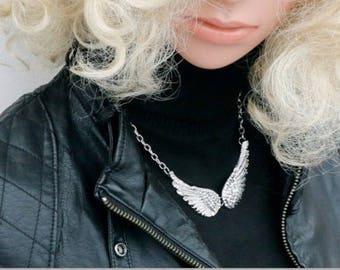 Trendy Angel Wings Choker Necklace