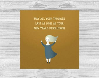New Year's Resolutions honest card