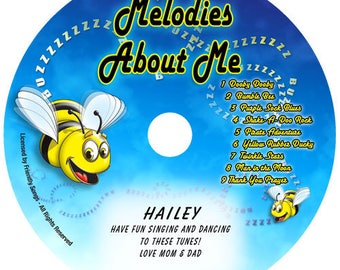 Personalized children's music CD - Your Child's Name in the song! Melodies About Me