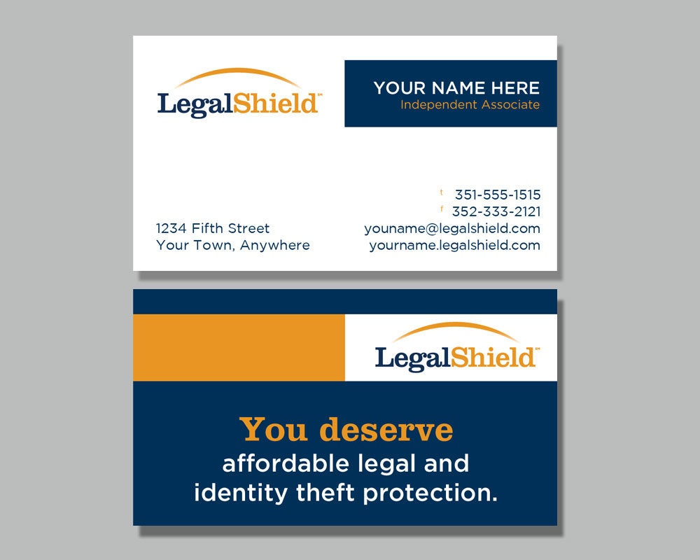 Legal Shield Business Card Design 2