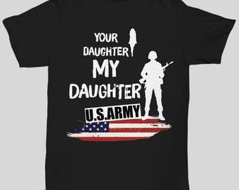 Army Daughter Tshirt - Dad Gifts From Army Funny T-Shirt Gag Gifts