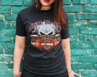 NEW!! Loyal To ONE Juneau ALASKA Harley Davidson T-Shirt // Small