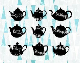 Teapot SVG, Teapot bundle SVG, Coffeepot SVG, Coffee Svg, Tea Svg, Coffee Vector, Instant download, Eps - Dxf - Png - Svg