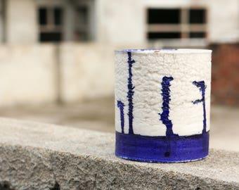 Blue Colored Planter, Indigo, Cactus Planter, Flower Planter, Succulent Planter, Handmade Pottery Planter, Minimalist Planter, texture