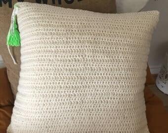 Flax and wool cushion