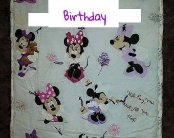 Handmade completely personalized lap blankets