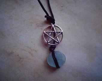 Pentagram & Seaglass Necklace