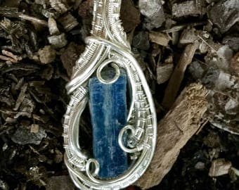 Kyanite in sterling and fine silver