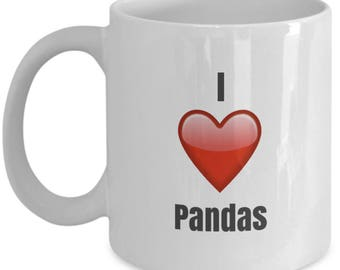 I Love Pandas unique ceramic coffee mug Gifts Idea