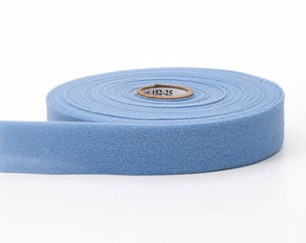 "Quilt binding, brushed, 1"" centerfold, 25 yds, Light blue"