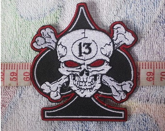 Skull Patch, Poker Patch, Iron On Patches