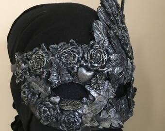 Masquerade mask, masked ball, silver.
