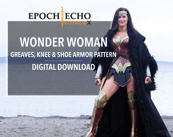 Wonder Woman Greaves, Knees and Shoe Armor Patterns - Digital Download