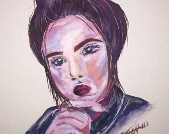 Gouache portraits personalised custom portraits