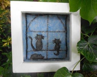 Handmade Felt and Embroidery 'Peace at Last'