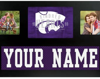 Kansas State University Wildcats NCAA College Jersey Custom Frame Sign