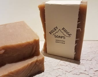 Unscented Goat's Milk Bar Soap