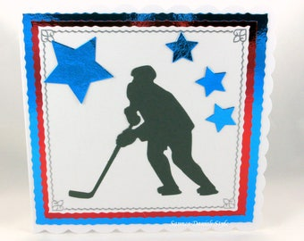 Greeting card for Ice hockey players