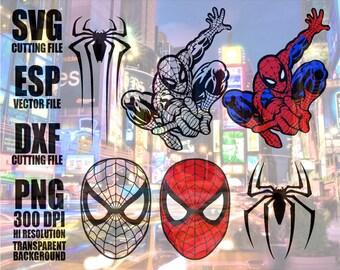 Spiderman Digital  Download  Clipart SVG Vector file PNG 300dpi