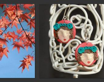 A3302 original handmade earrings from modelling materials.