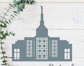 Idaho Falls, Idaho LDS Temple Cut File - Digital Download - SVG, Vector, Cricut, Silhouette, Clip Art